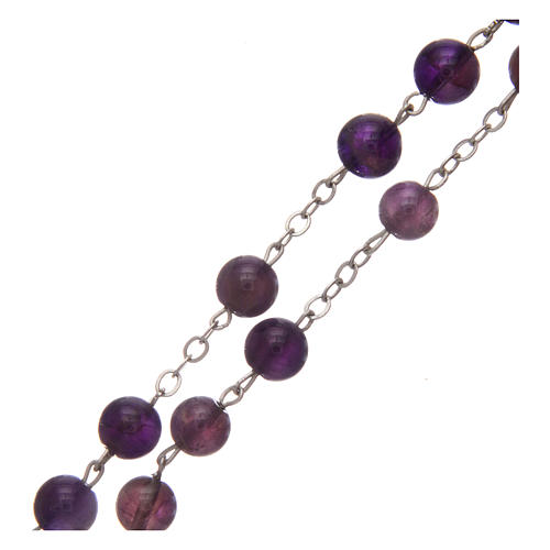 Rosary in real amethyst beads 7 mm 3