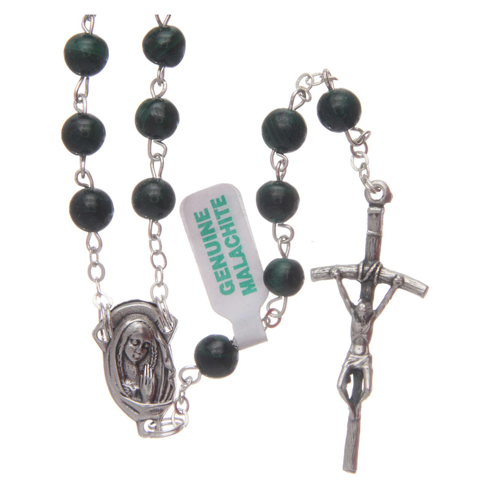 Malachite rosary beads 6 mm 4