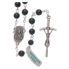 Malachite rosary beads 6 mm s2