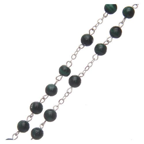 Malachite rosary beads 6 mm 3