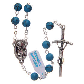 Turquoise rosary beads 6 mm s1