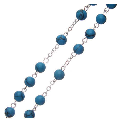 Turquoise rosary beads 6 mm 3