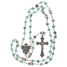 Rosario perle acqua dolce turchese ambrato Madonna 4 mm s4