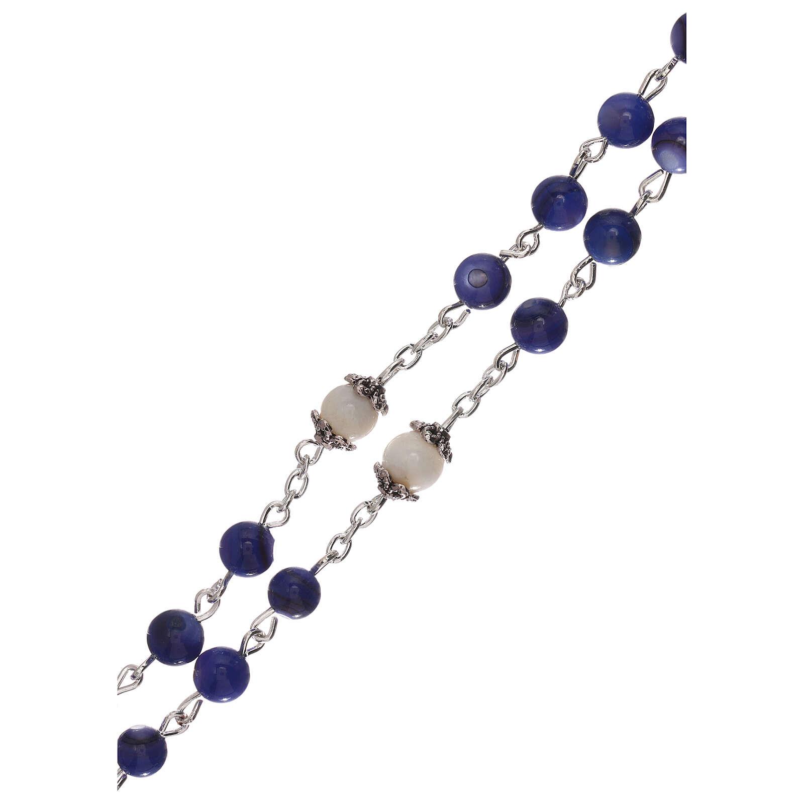 Rosario perla acqua dolce blu Madonna 4 mm 4