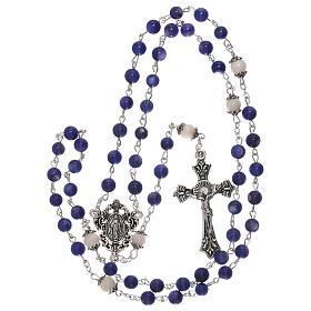 Rosario perla acqua dolce blu Madonna 4 mm s4