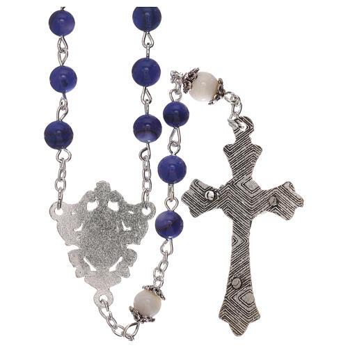 Rosario perla acqua dolce blu Madonna 4 mm 2