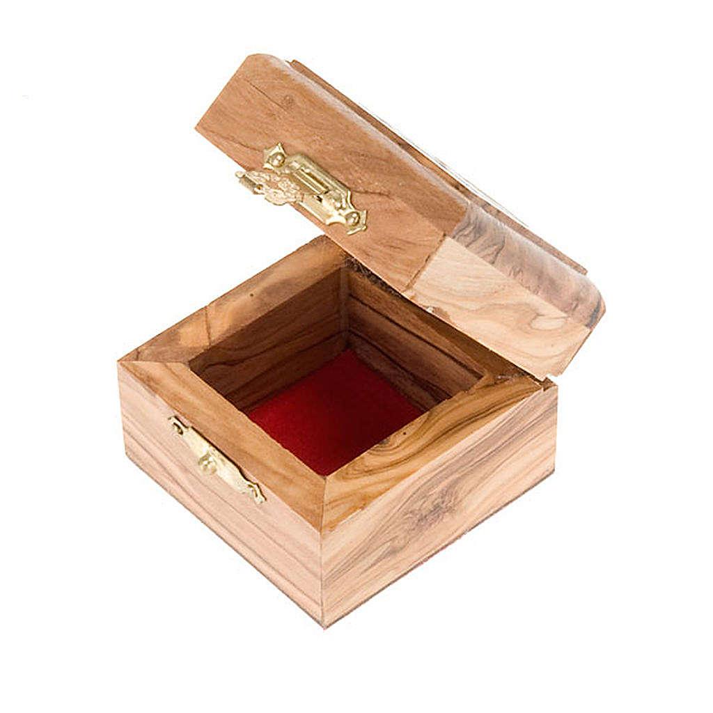 Portarosario scatola olivo Jerusalemme 4