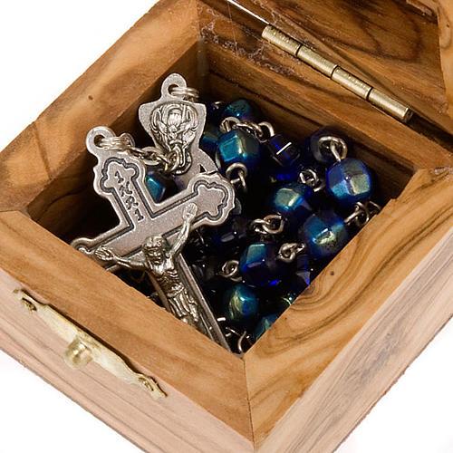 Portarosario scatola olivo Jerusalemme 2