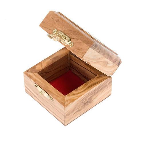 Portarosario scatola olivo Jerusalemme 3