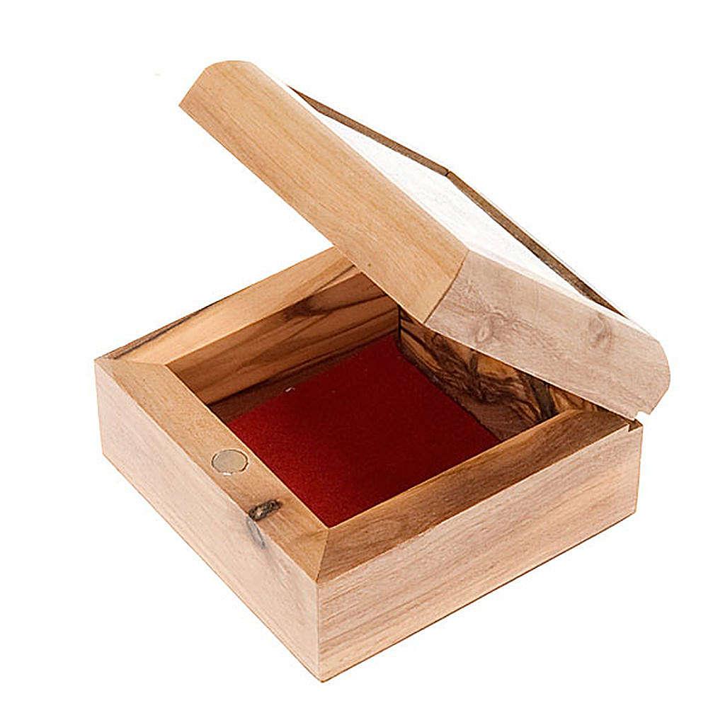 Portarosario scatola olivo Sacra Famiglia 4