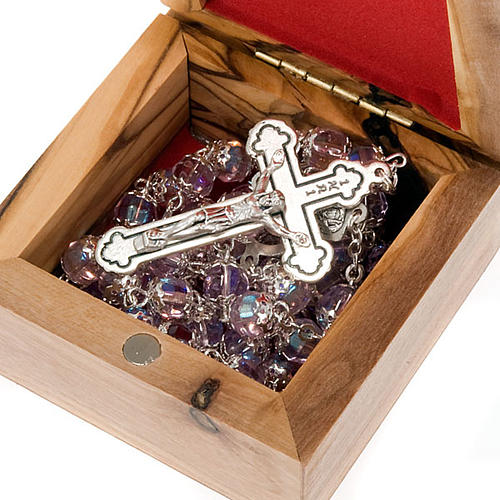 Rosary Case in olive wood - The Holy Family 2