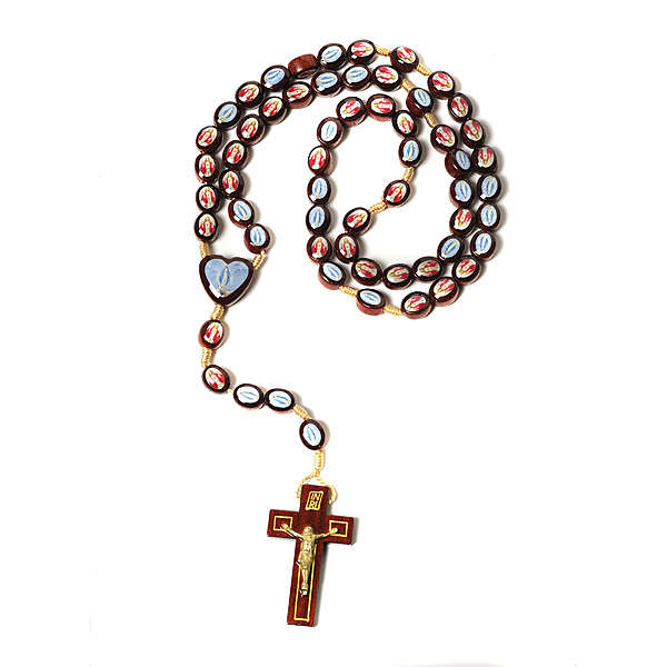 Multi-image rosary oval shaped beads 4