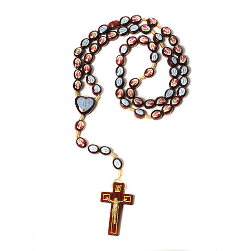 Multi-image rosary oval shaped beads 1