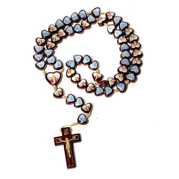 Multi-image rosary heart shaped beads 4