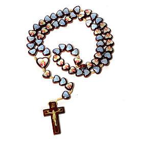 Multi-image rosary heart shaped beads s1