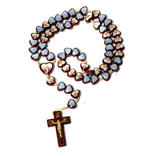 Multi-image rosary heart shaped beads 1