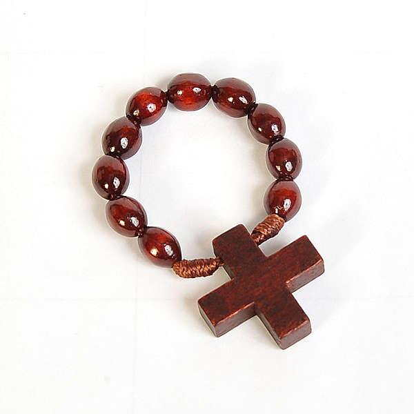 Ten beads dark wood rosary 4