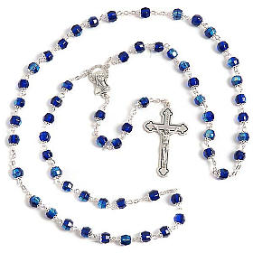 Blue glass rosary s1
