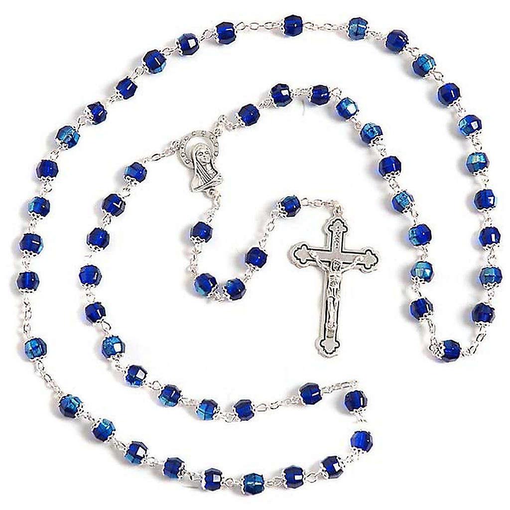 Rosario vidrio azul 4
