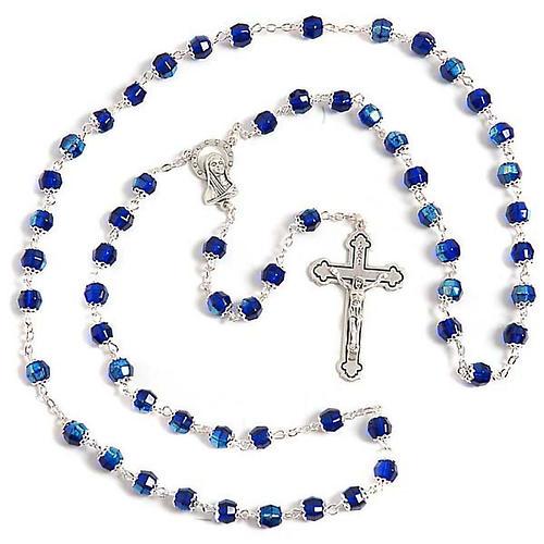 Rosario vidrio azul 1