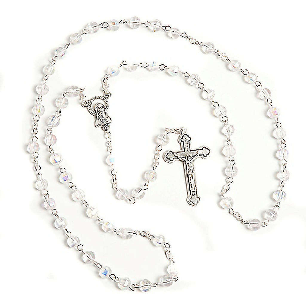 Faceted glass rosary 4