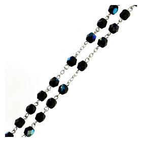 Black faceted glass rosary s3