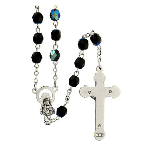 Black faceted glass rosary 2