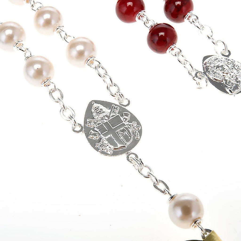 Silver plated and glass rosary 4