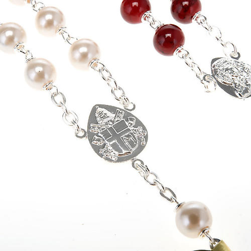 Silver plated and glass rosary 7