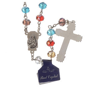 Rosary with multicoloured crystal 8x6mm s2