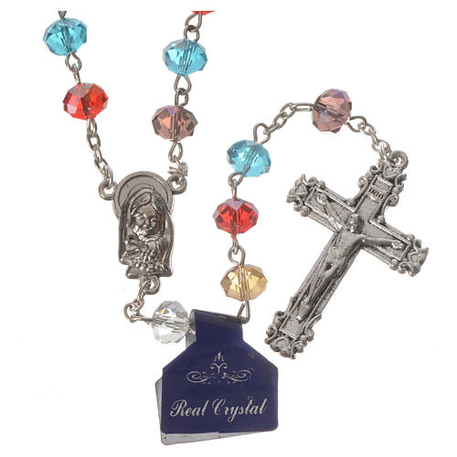 Rosary with multicoloured crystal 8x6mm 1