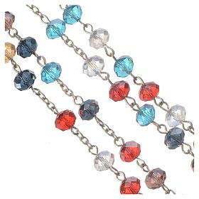 Chapelet en perles cristal multicolore 8x6mm s3