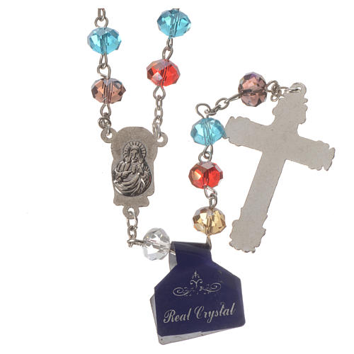 Rosary with multicoloured crystal 8x6mm 2