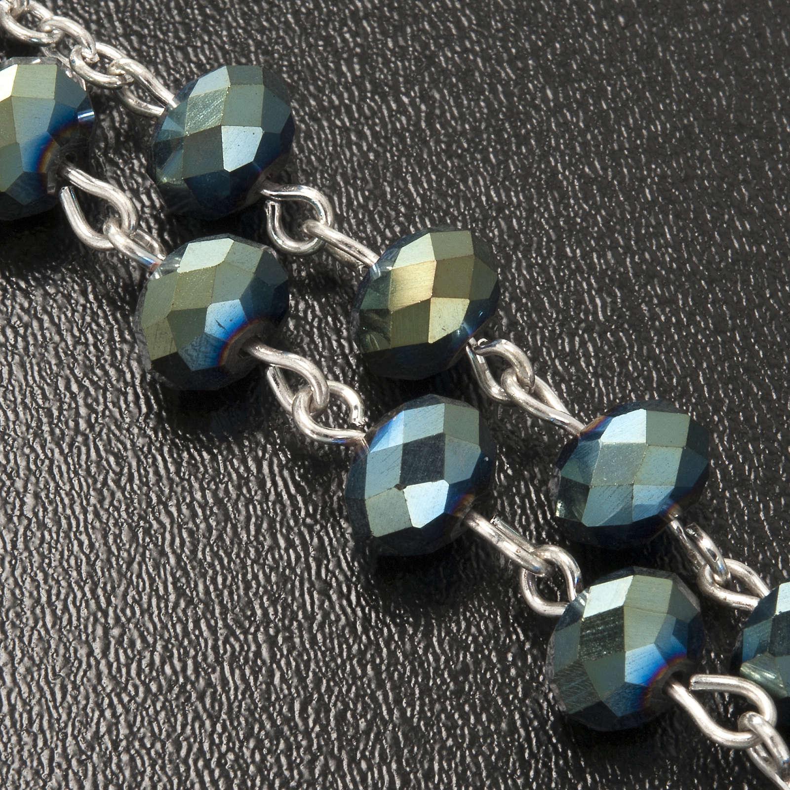 Chapelet en perles cristal vert 8x6mm 4