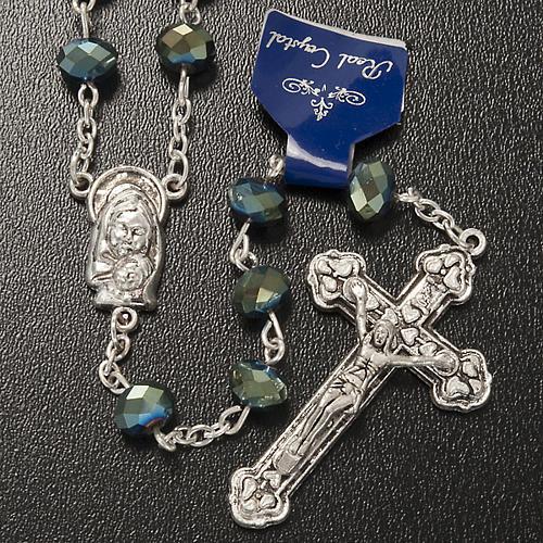 Chapelet en perles cristal vert 8x6mm 2