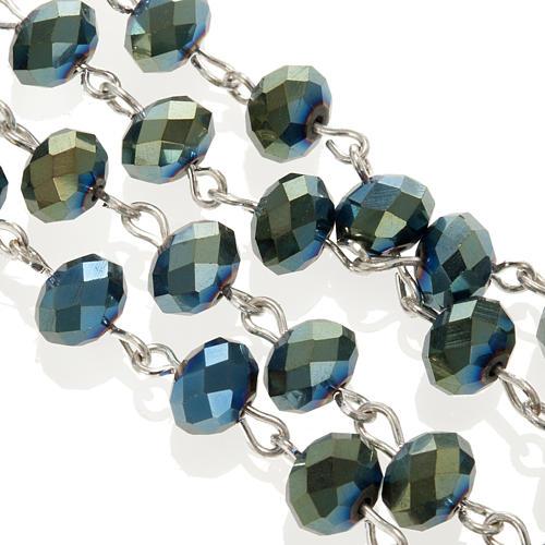 Chapelet en perles cristal vert 8x6mm 5
