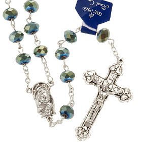 Rosary with green crystal 8x6mm s1