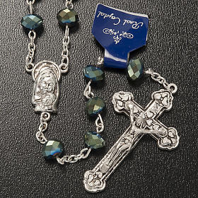Rosary with green crystal 8x6mm s2