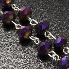 Chapelet en perles cristal améthyste 8x6mm s5