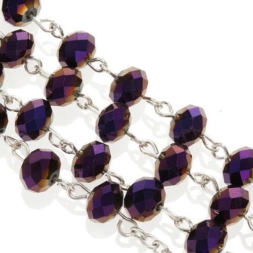 Chapelet en perles cristal améthyste 8x6mm 2