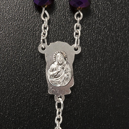 Chapelet en perles cristal améthyste 8x6mm 4