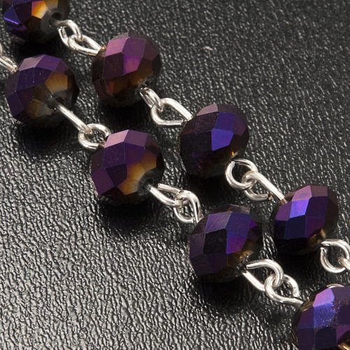 Chapelet en perles cristal améthyste 8x6mm 5