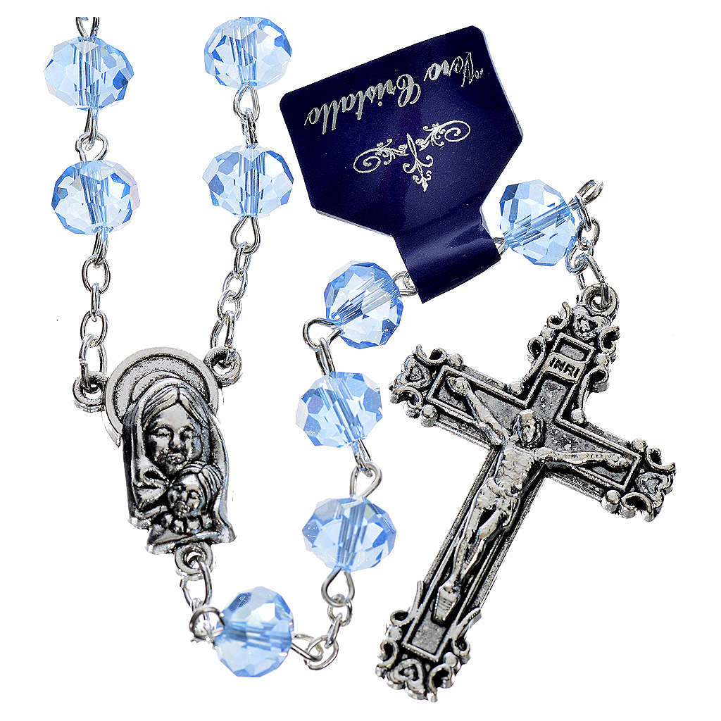 Rosary with sapphire crystal 8x6mm 4
