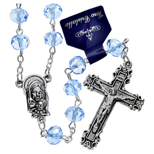 Rosary with sapphire crystal 8x6mm 1