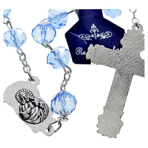 Rosary with sapphire crystal 8x6mm 2