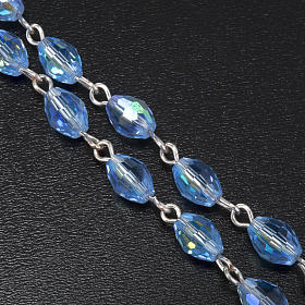 Rosario Madonna Ferruzzi vero cristallo azzurro 9x6 mm s4