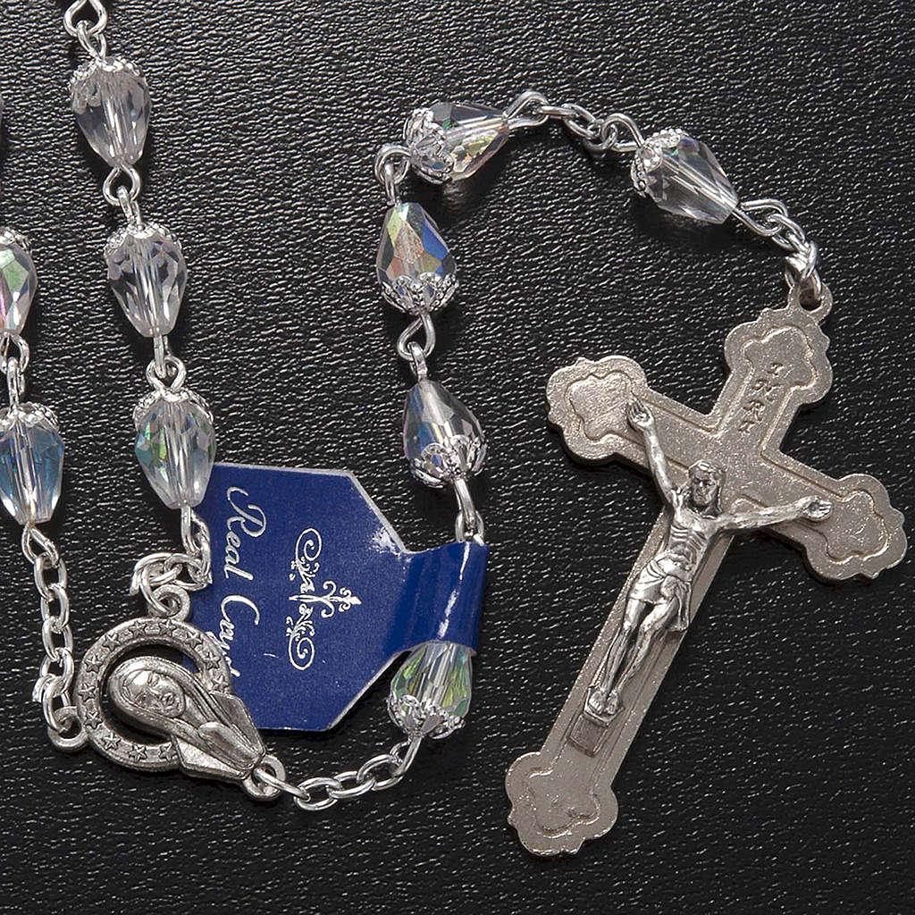 Chapelet en perles cristal goute transparente 4