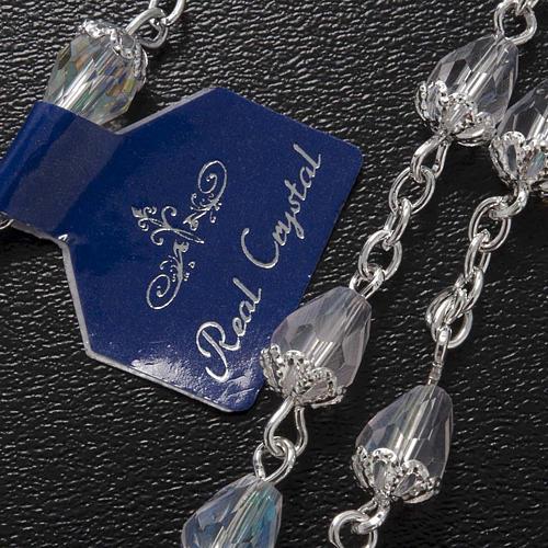 Chapelet en perles cristal goute transparente 5