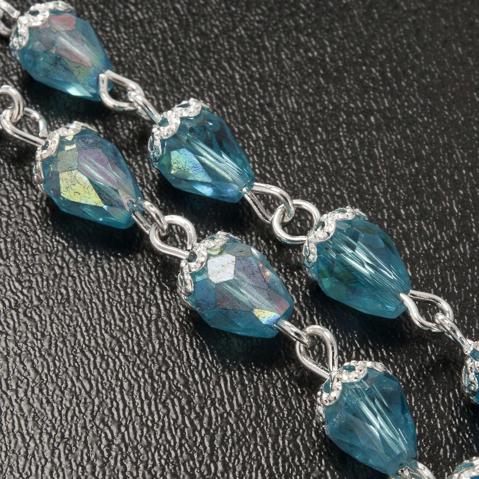Chapelet en perles cristal goute d'eau 4