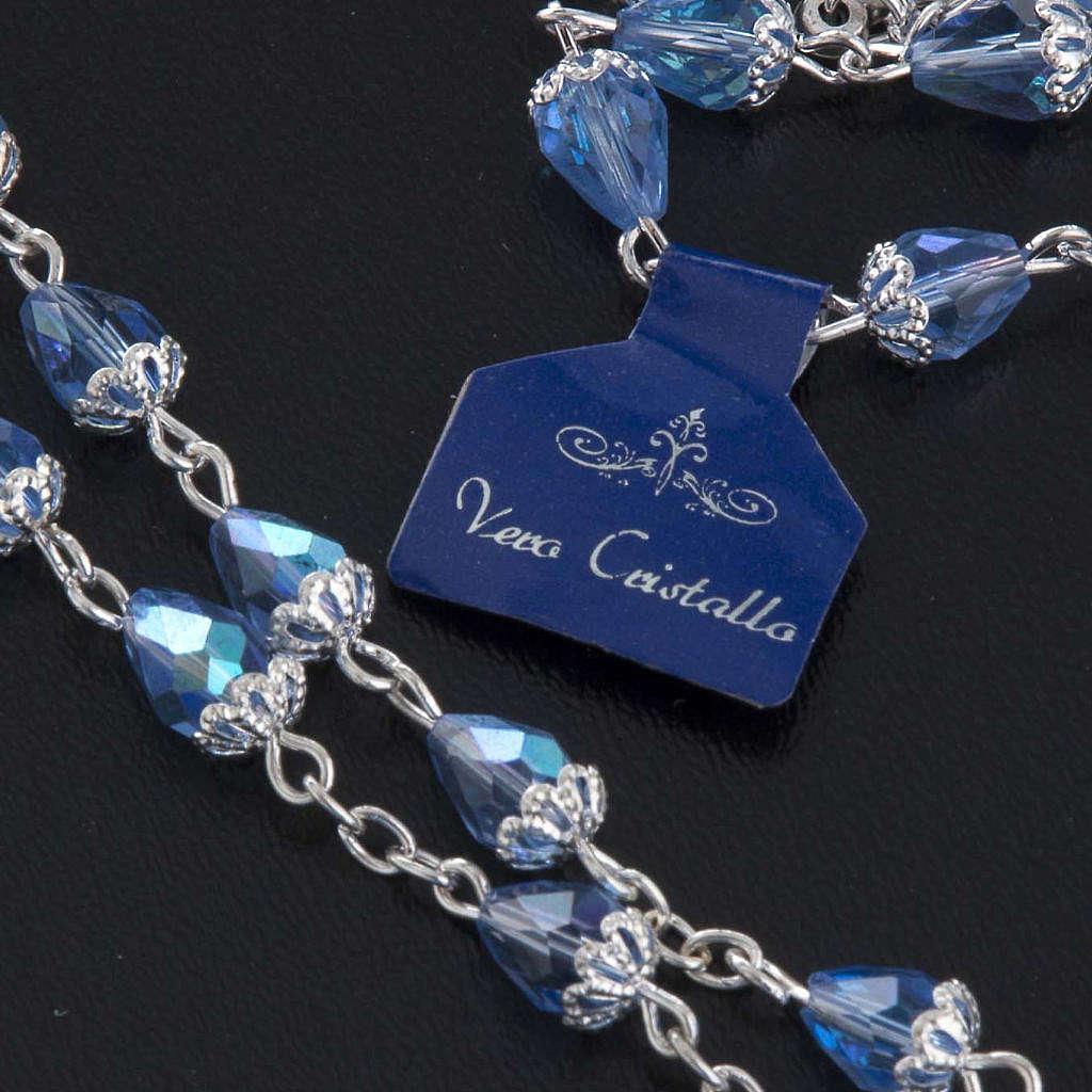 Chapelet en perles cristal goute bleue 4